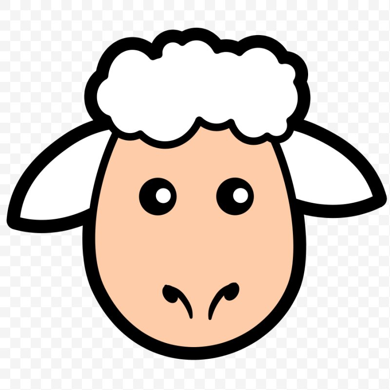 Sheep and mutton clip. Lamb clipart face