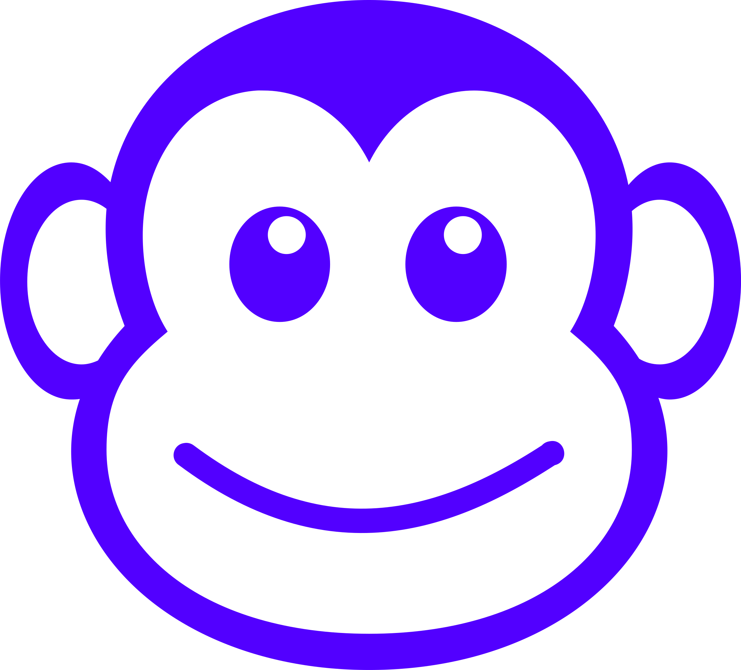 Monkey clipart cheeky monkey. Funny face simple path