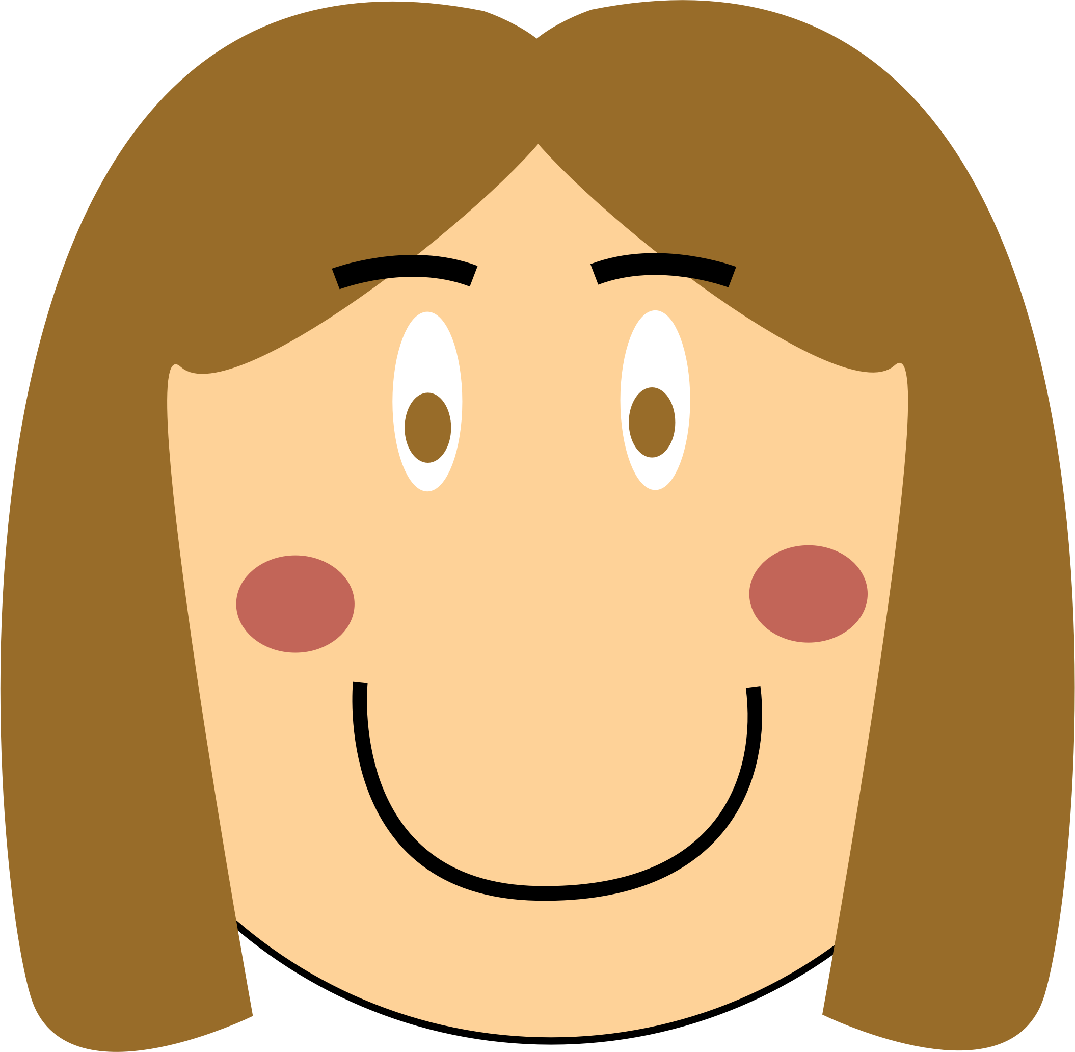 Smiling girl big image. Nose clipart nose hair