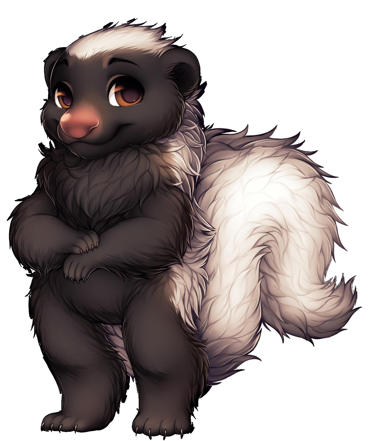 fox clipart skunk