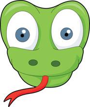 Snake clipart face. Free animal faces clip