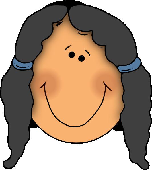 Girls clipart smile. Cartoon girl free download