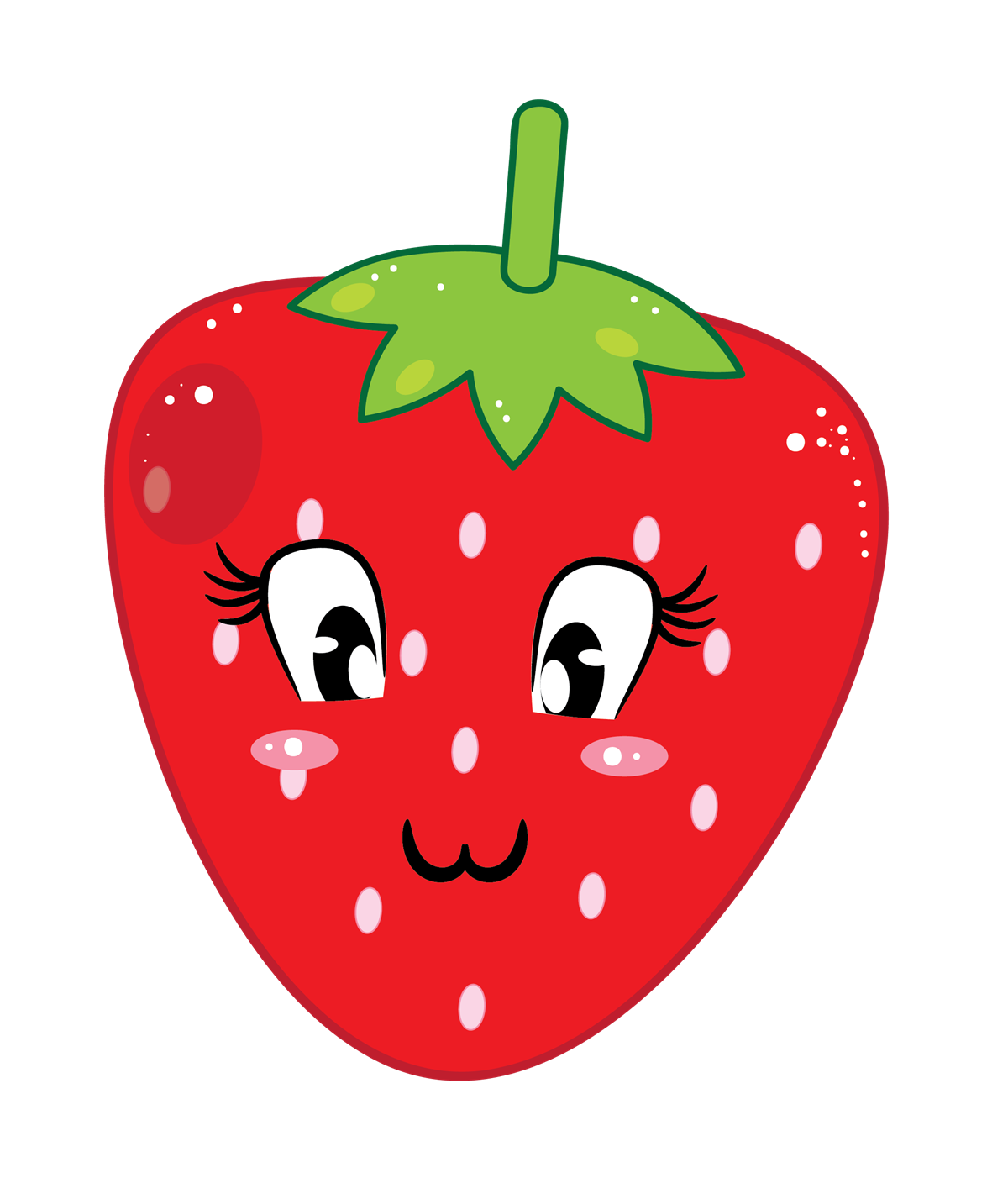 Eyes clipart strawberry. Fruit clip art downloadclipart