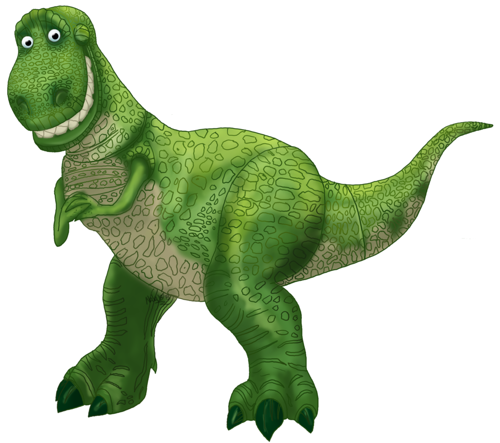 Toy story the dinosaur. Green clipart t rex