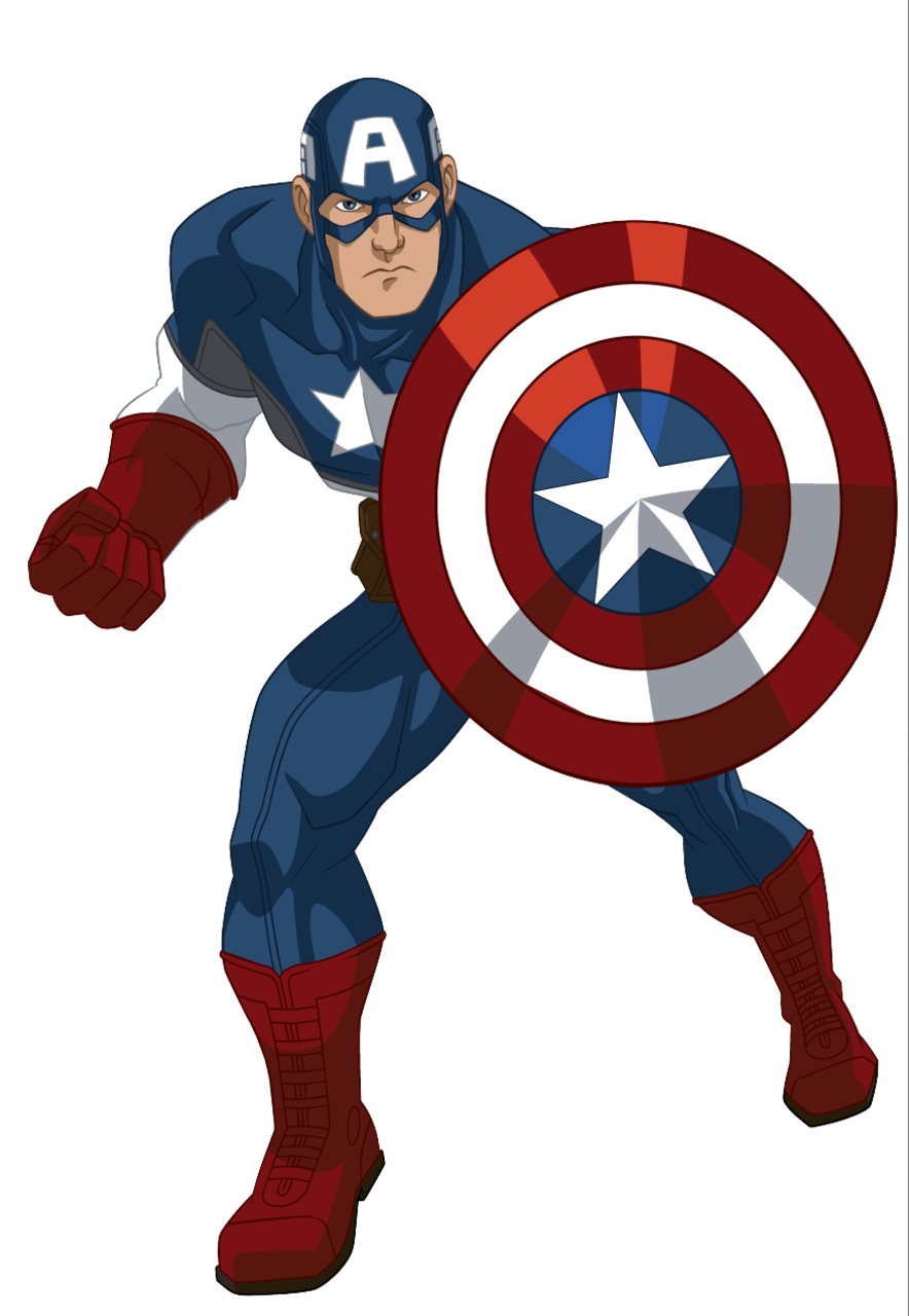head clipart captain america