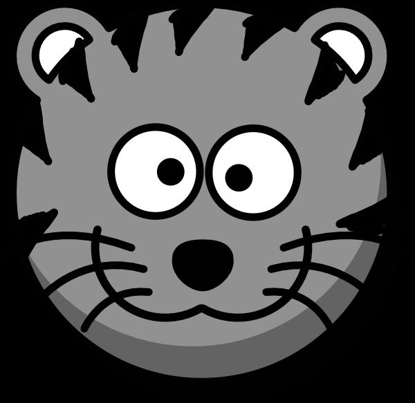 Face clipartblack com animal. Track clipart tiger