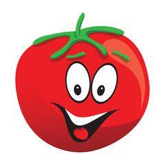 Tomatoes clipart fun. Tomato smiling face cartoon