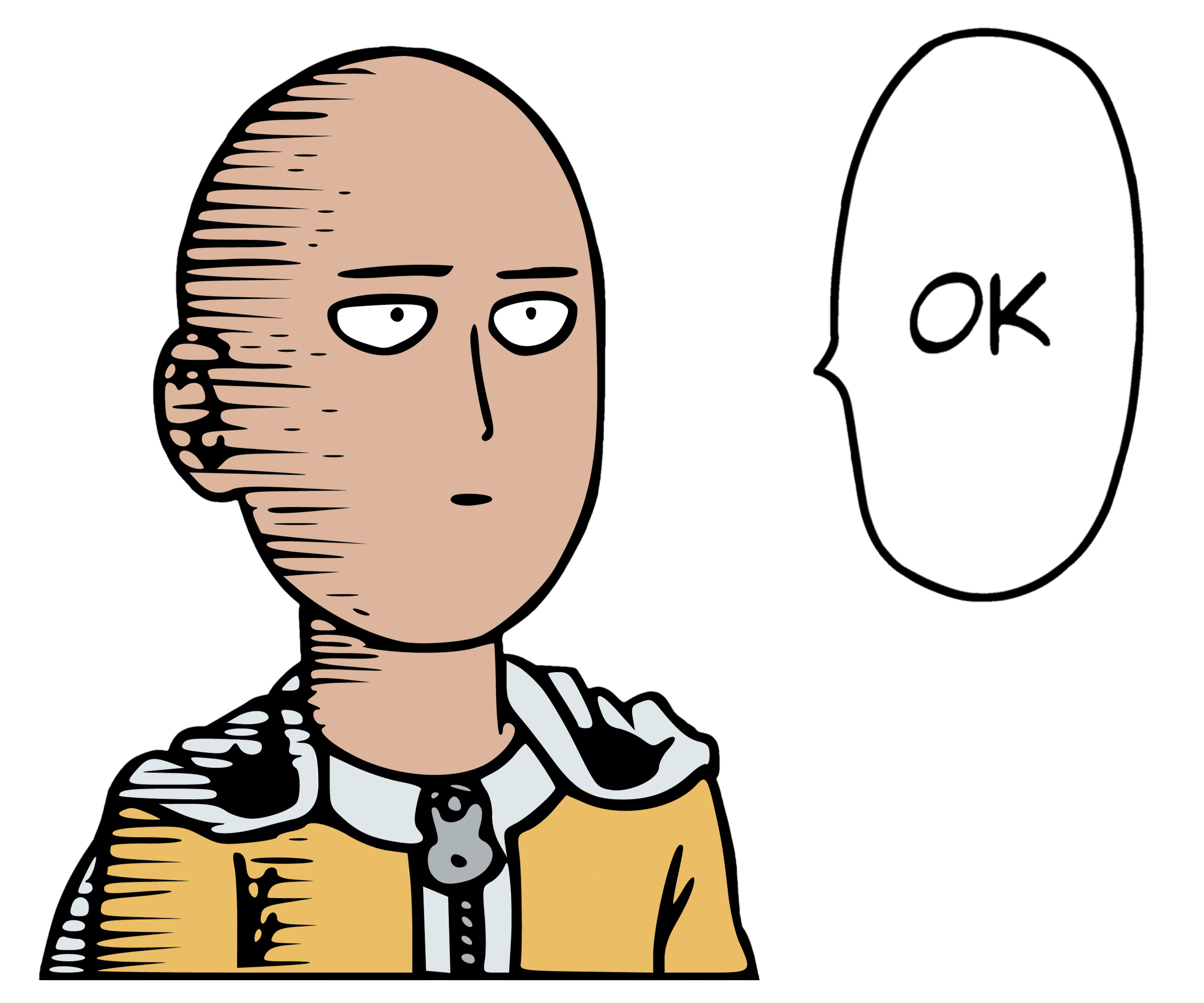 One punch man saitama. Fight clipart punched