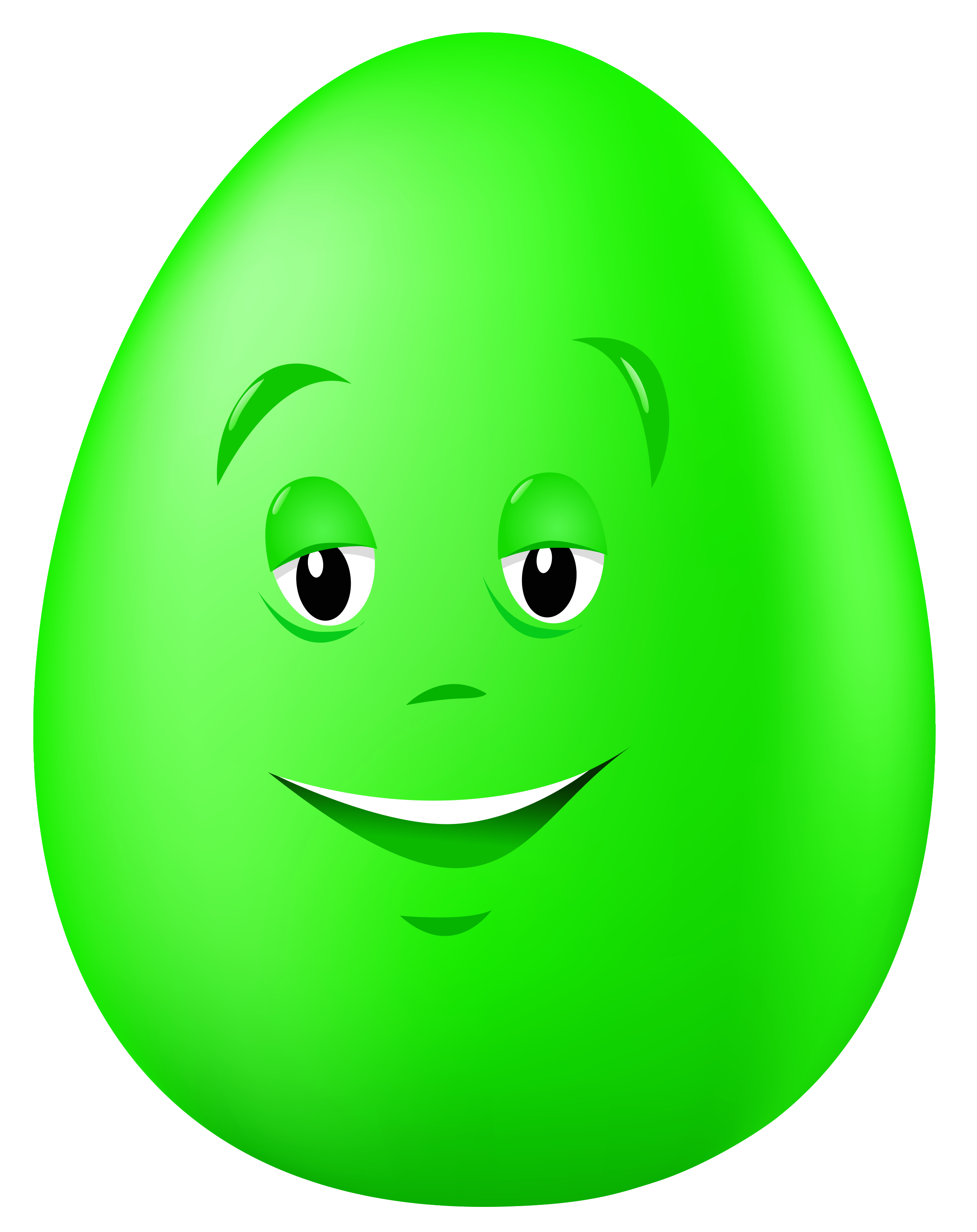 Transparent easter green egg. Clipart roses face