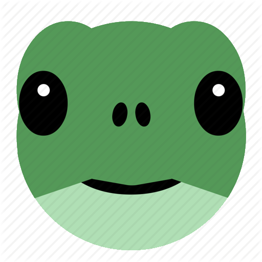 Clipart turtle face. Green smiley illustration