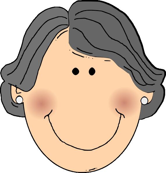 Clipart smile grandma. Face grandmother frames illustrations