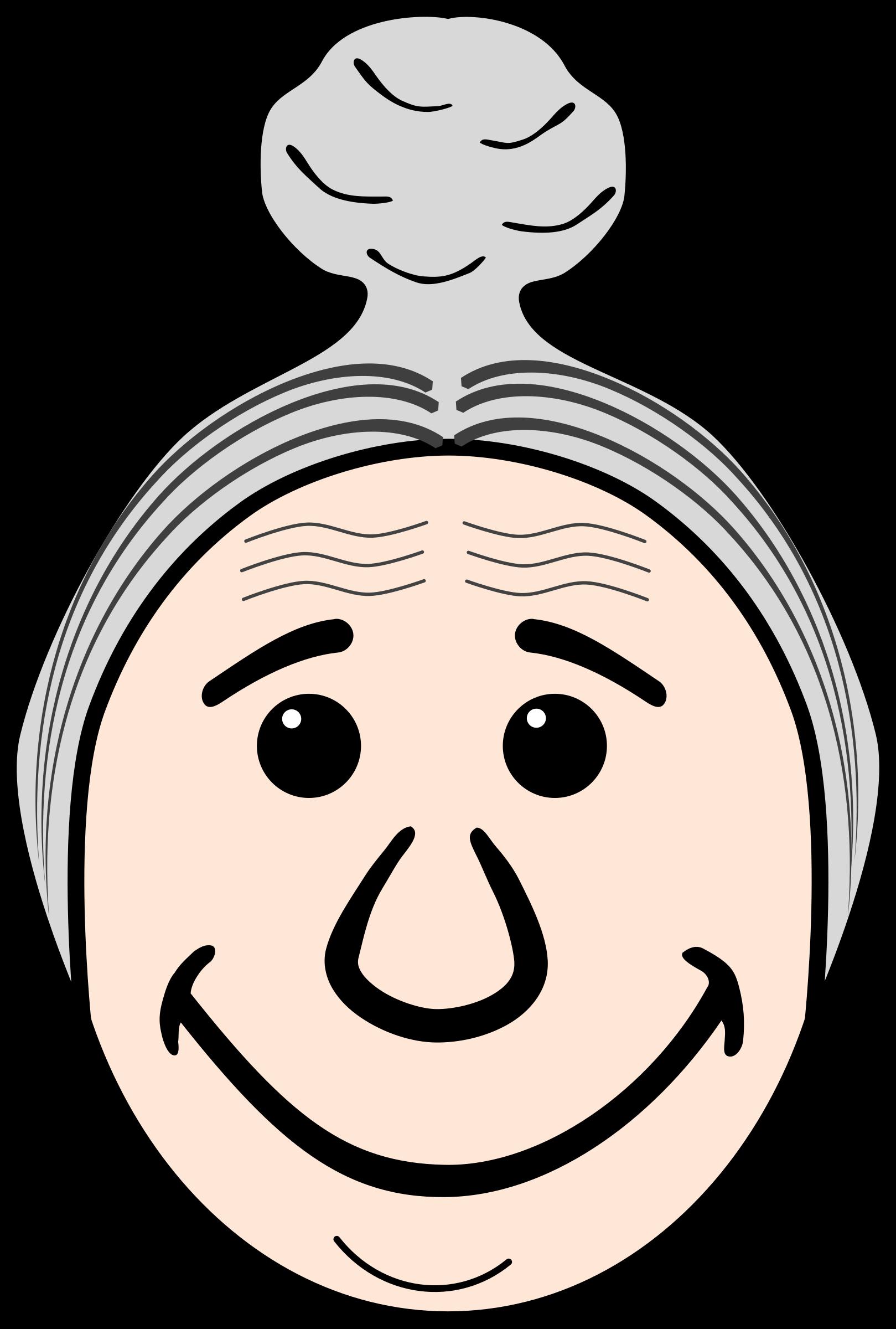 Face grandmother frames illustrations. Clipart smile grandma