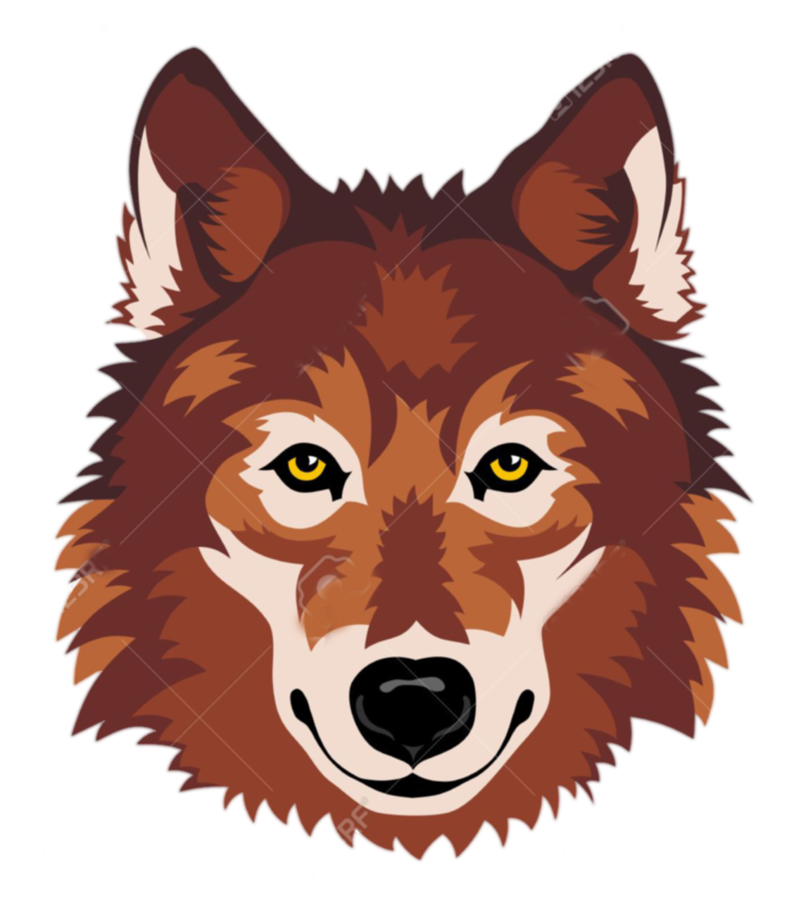 Wolf head png free. Wolves clipart face