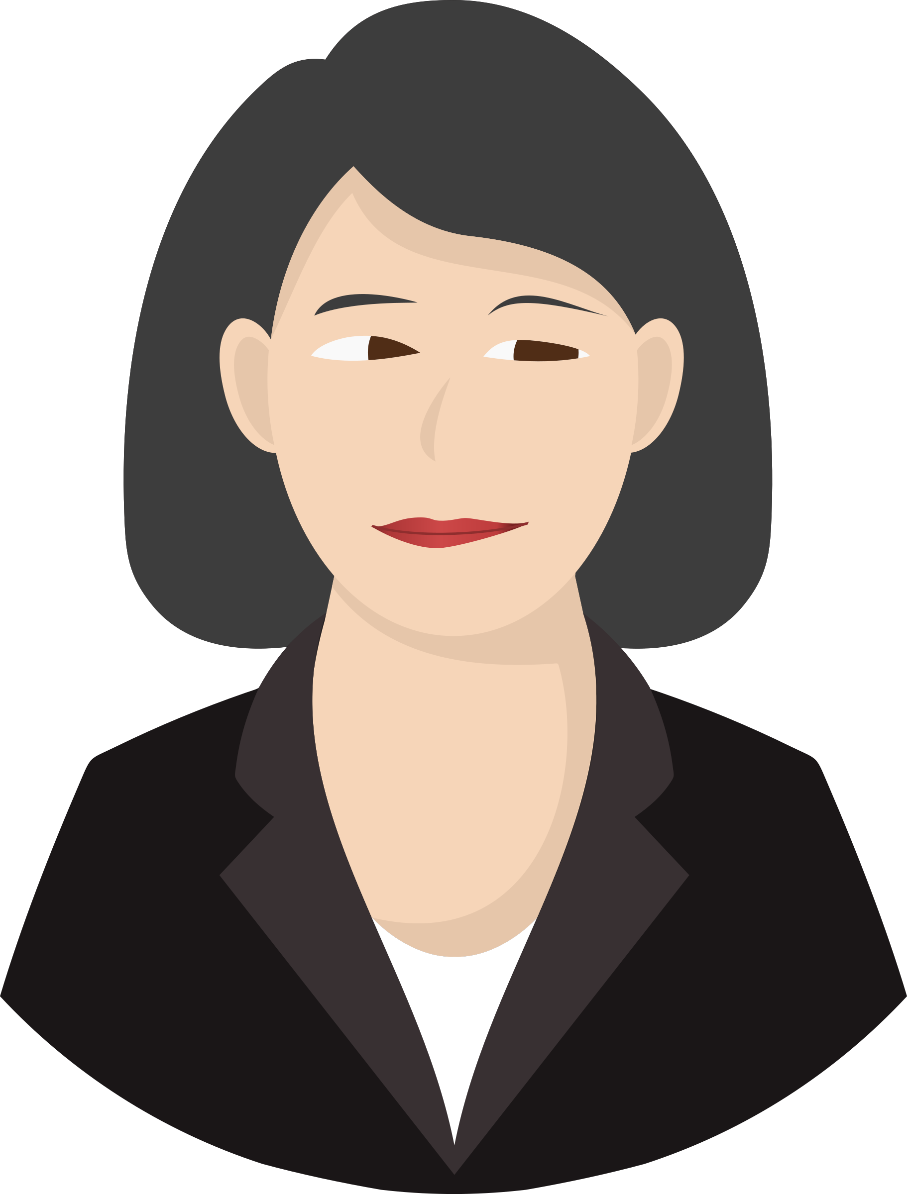 Woman big image png. Neck clipart detailed face