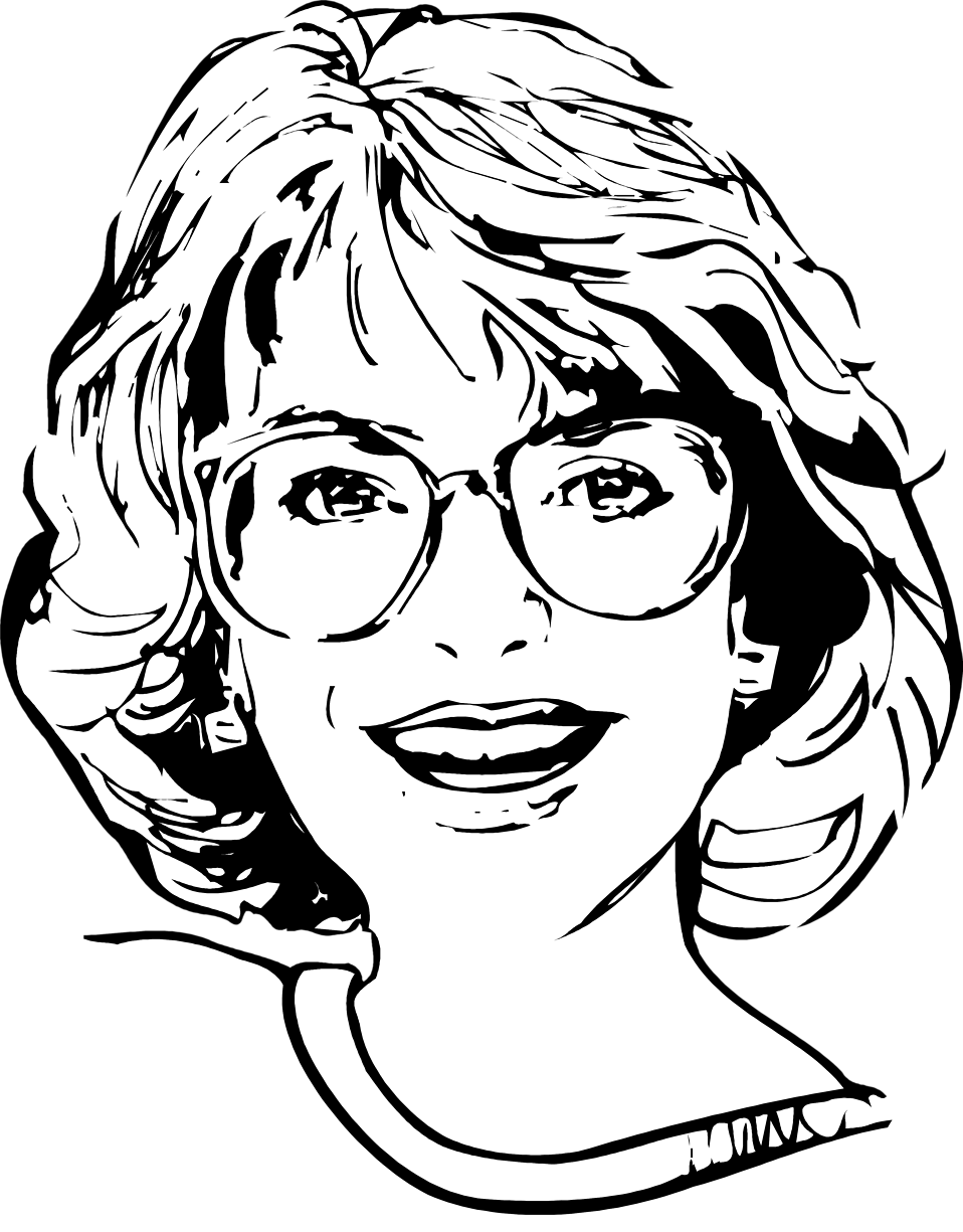 collection of woman. Eyeglasses clipart glass face