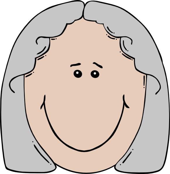 Clipart smile grandma. Old woman clip art
