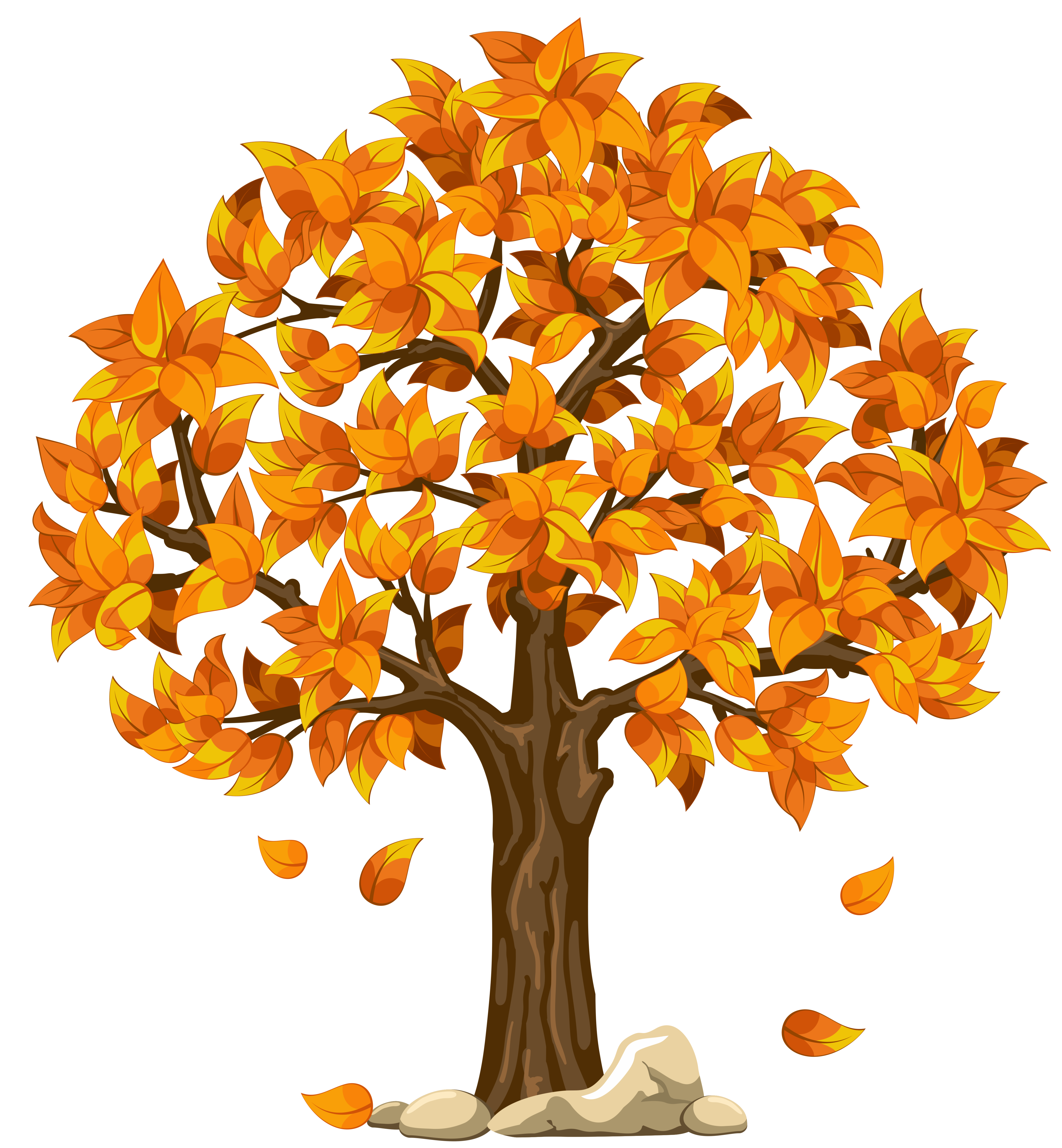 Fall clipart bare fall tree. Transparent orange png picture