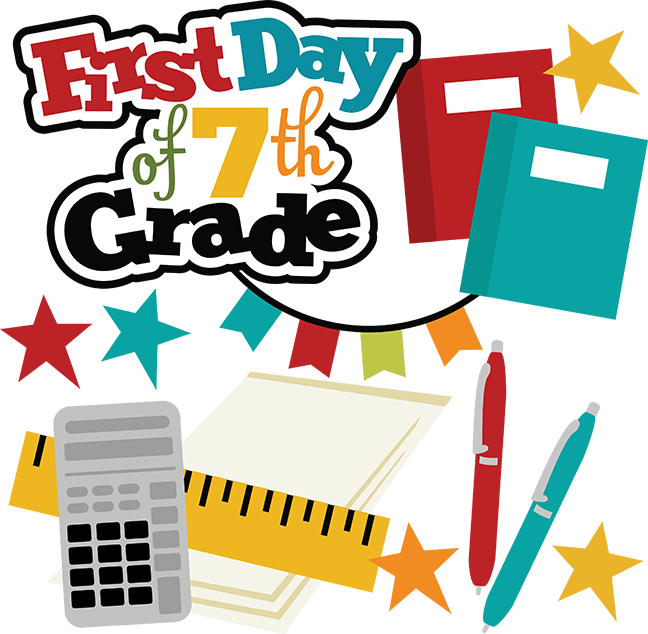 Graduation clipart sixth grade. First day of th