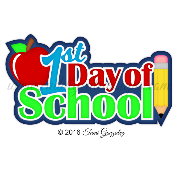 st day of. College clipart days