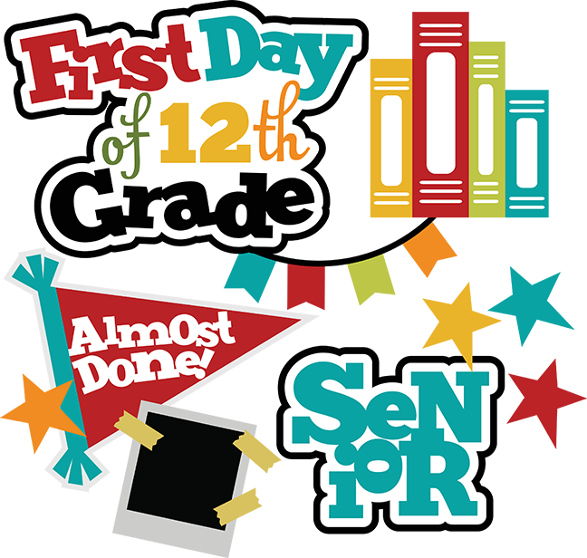 Scrapbook clipart school. First day of th