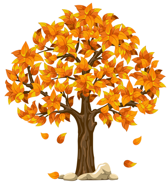Clipart trees thanksgiving. Transparent fall orange png