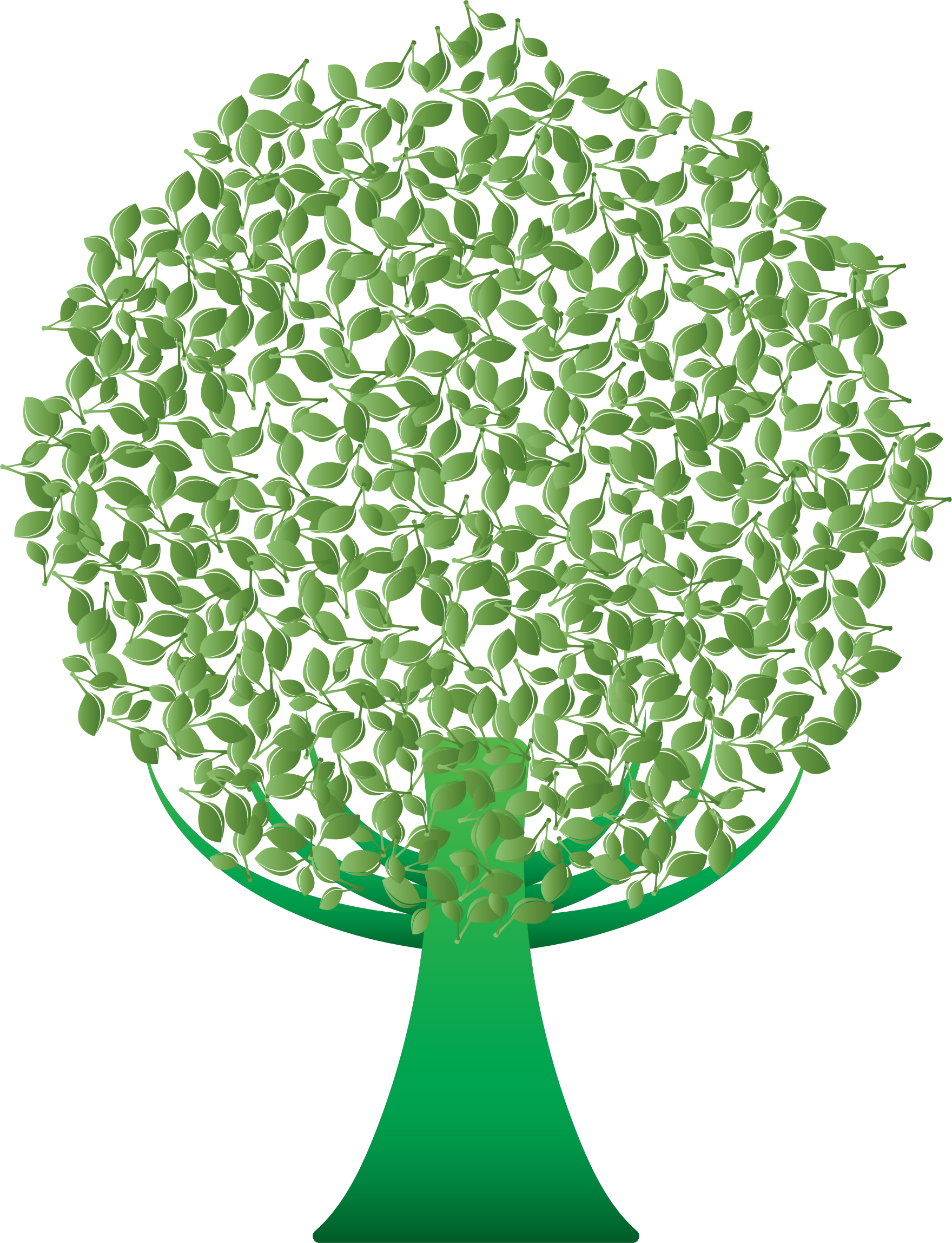 Tree clipart green. Abstract big image png