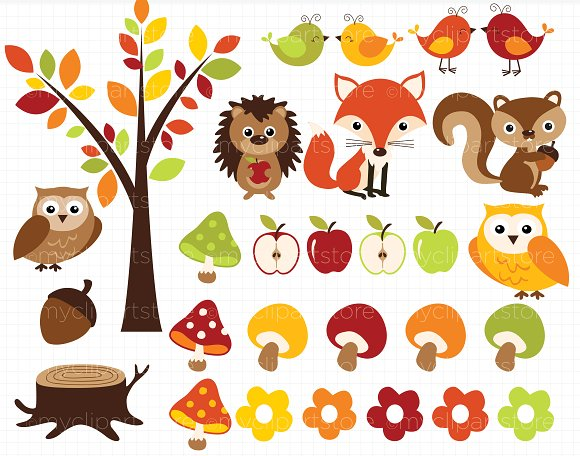 Animals . Fall clipart autumn animal
