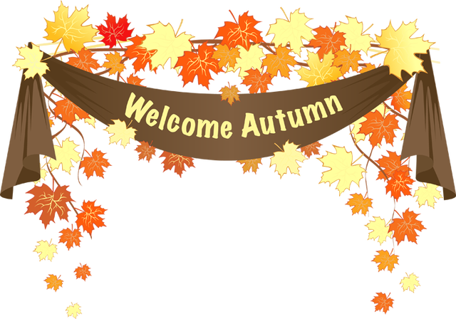 Clipart fall autumn day. Colorful clip art for
