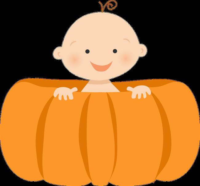 clipart pumpkin baby girl