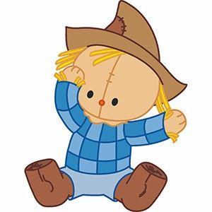 Fall clipart baby. Scarecrow clip art autumn