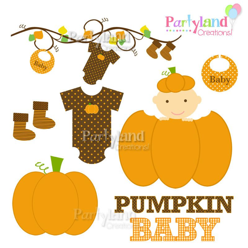 Pumpkin clipart baby shower. Fall clip art autumn