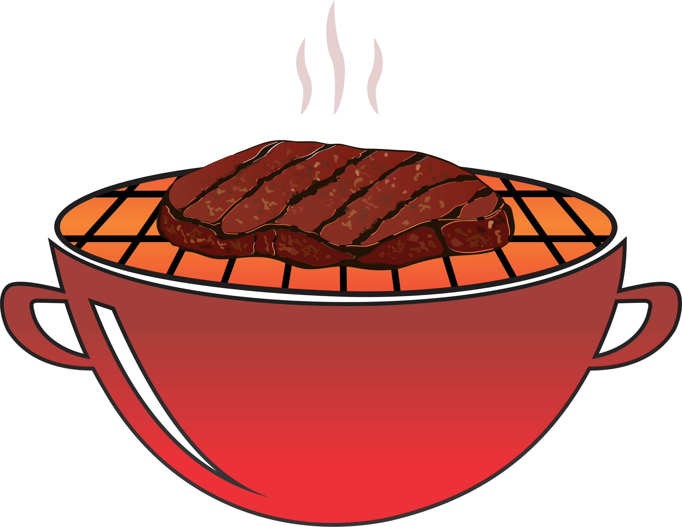 Grilled steak big image. Clipart fall bbq