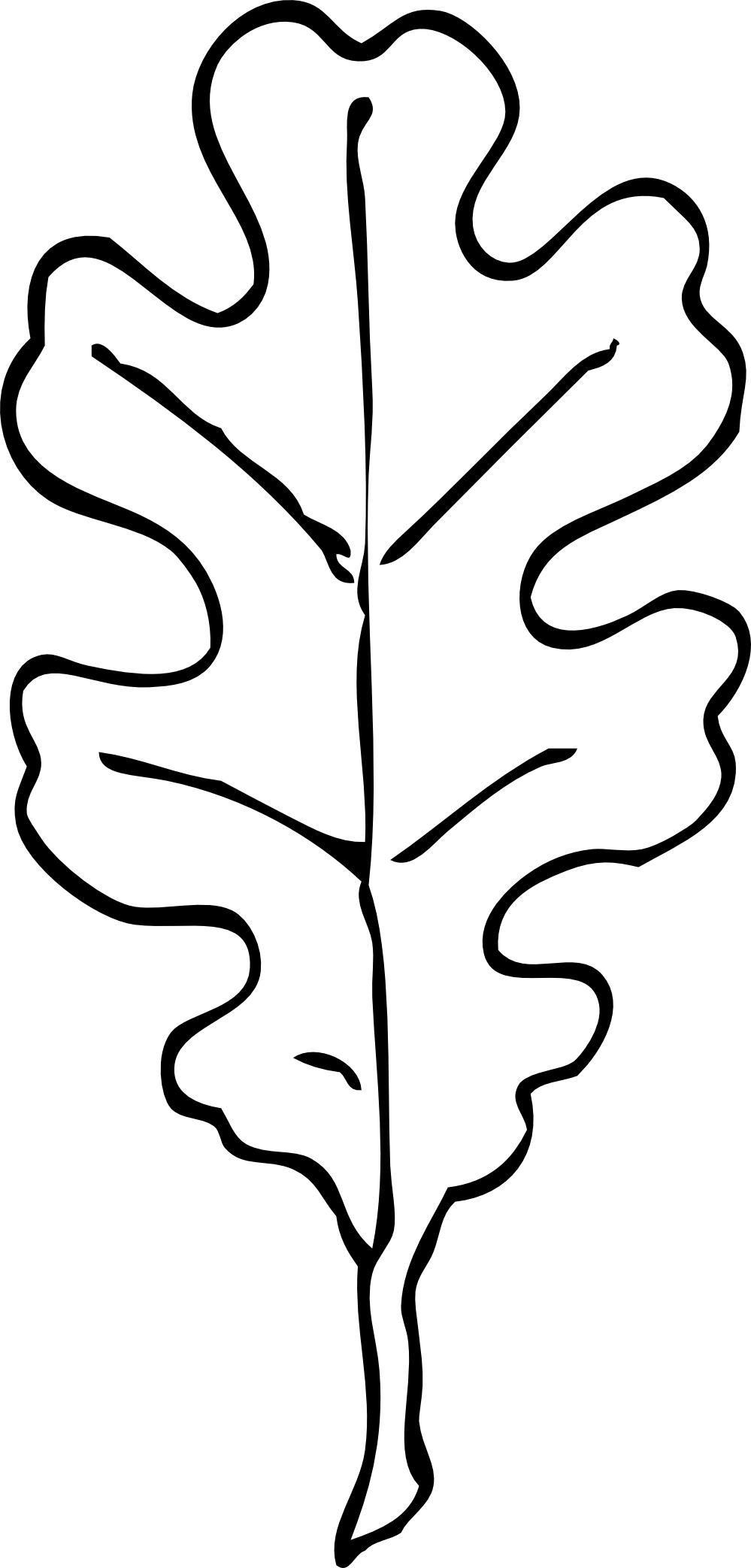 Tree clipart black and white. Leaf outline drawing at