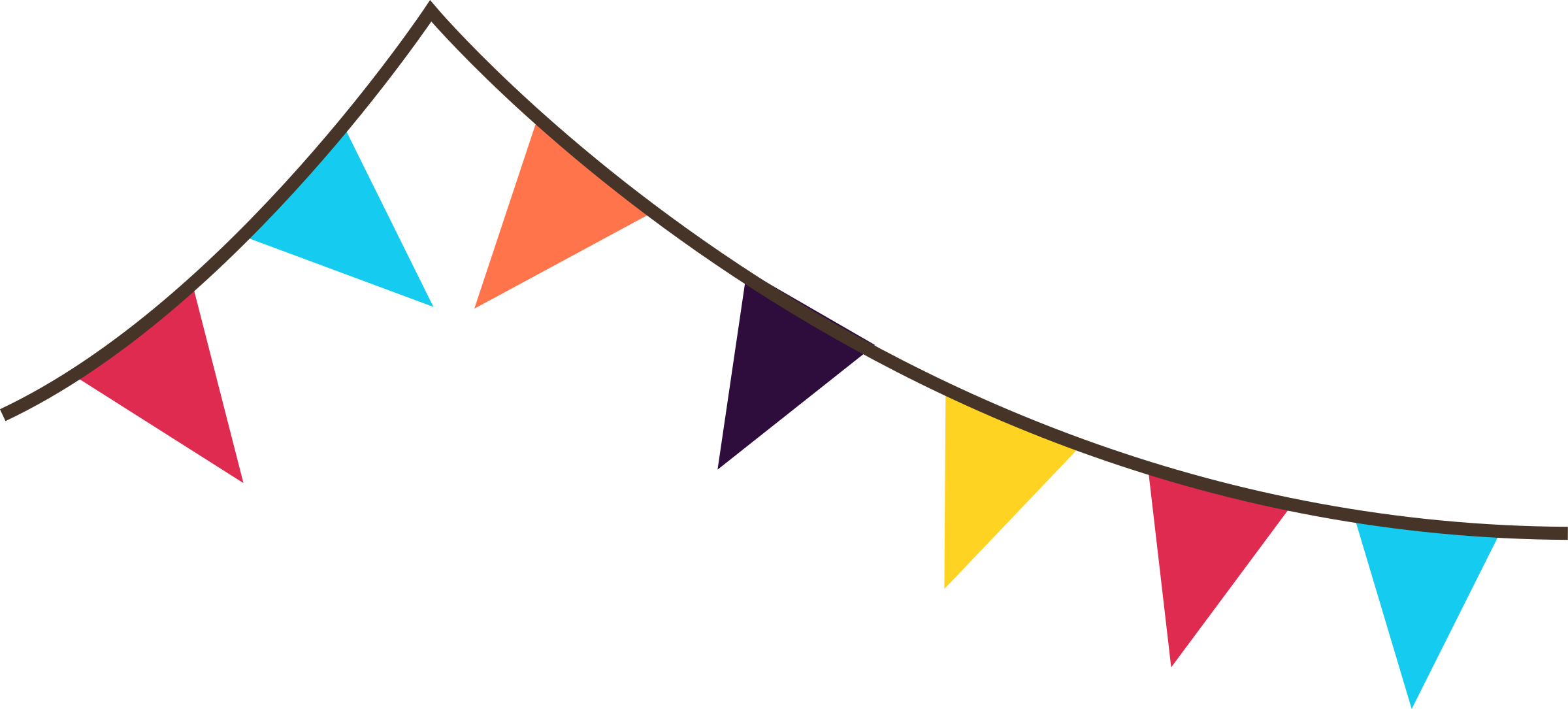 Banner flags big image. Festival clipart bunting