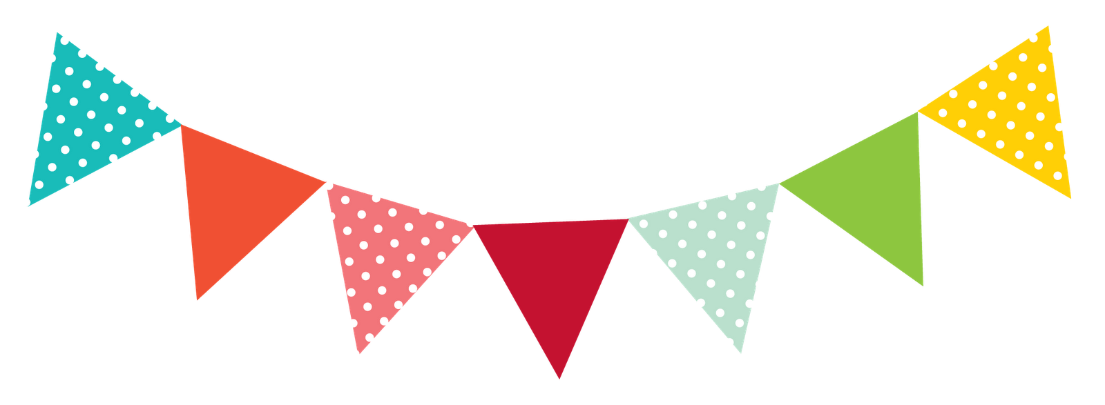 Number 1 clipart polka dot.  collection of bunting