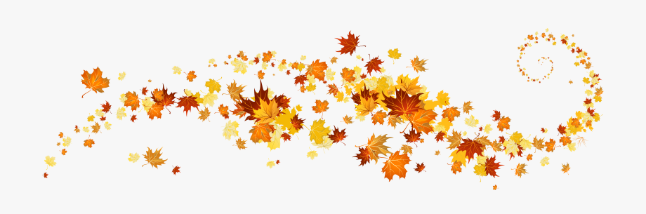 Decorative banner background leaves. Clipart fall clip art