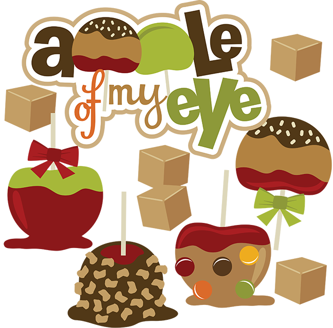 Foods clipart eye. Apple of my svg