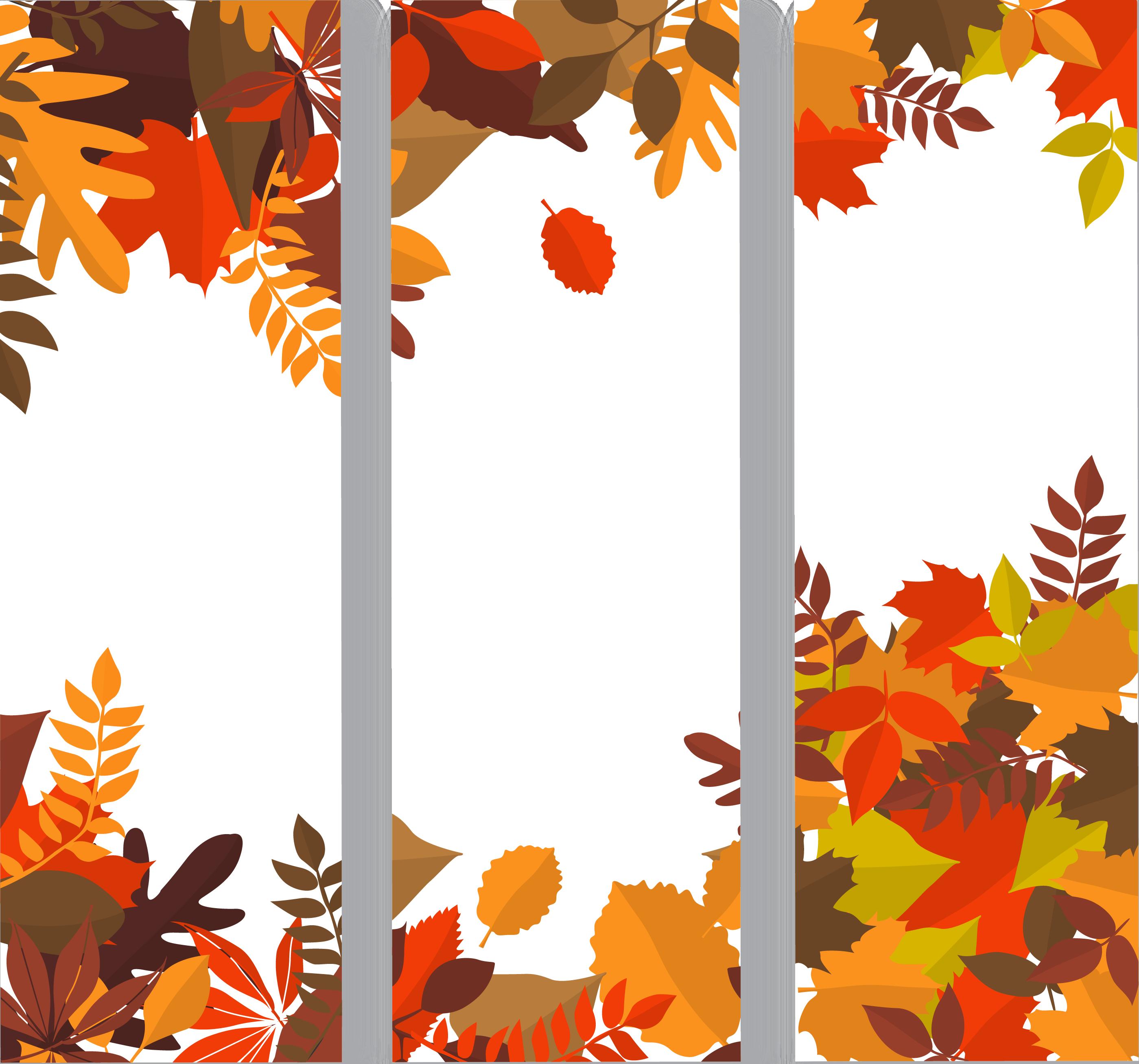 Autumn web banner clip. Clipart fall deciduous tree