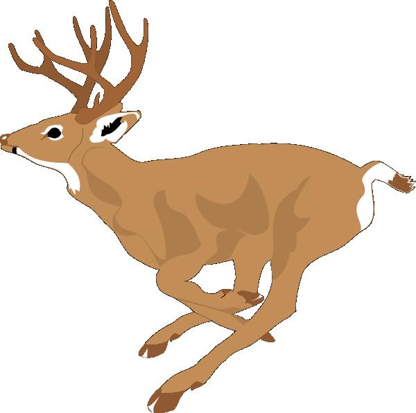 Deer running fast clip. Hunting clipart 8 point buck