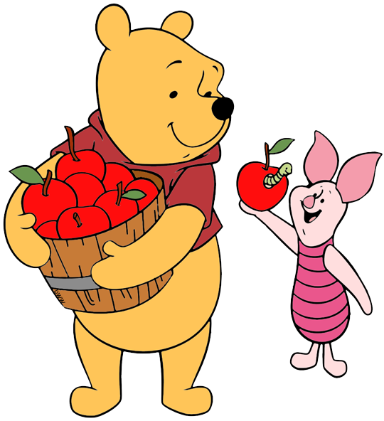 Falling pooh pencil and. Clipart friends counter