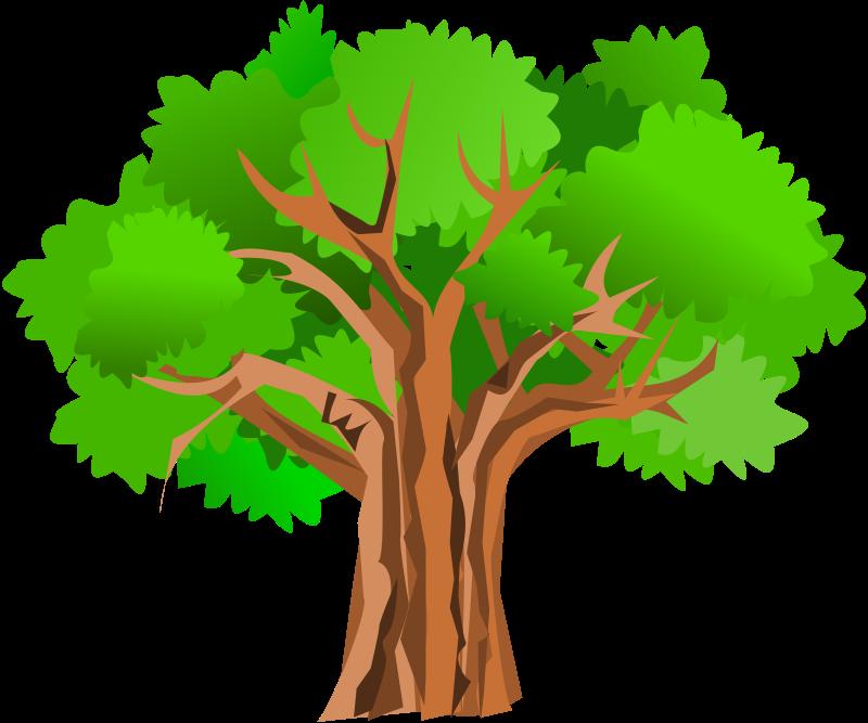 Oak clip art silhouette. Picture clipart tree