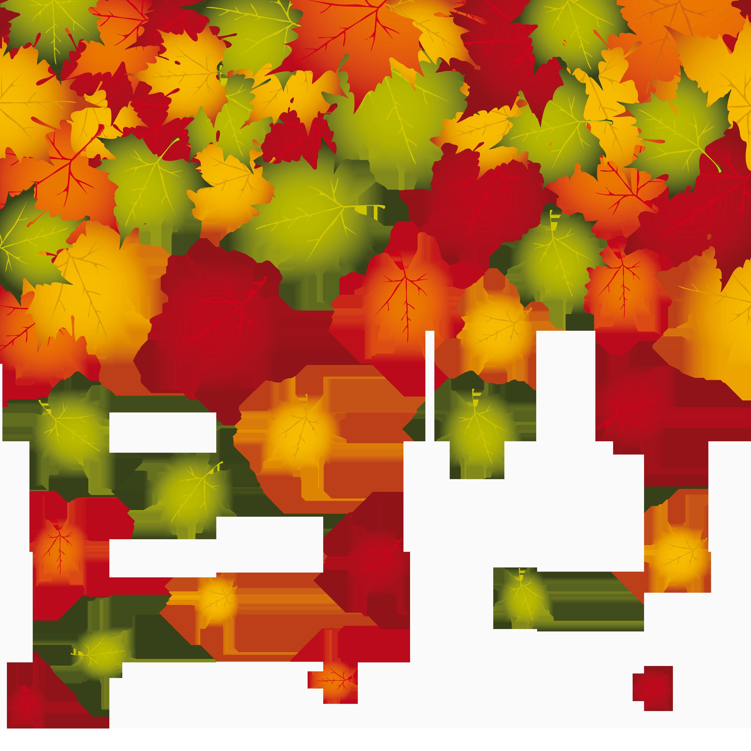 Transparent leaves decoration png. Clipart fall fallen leave