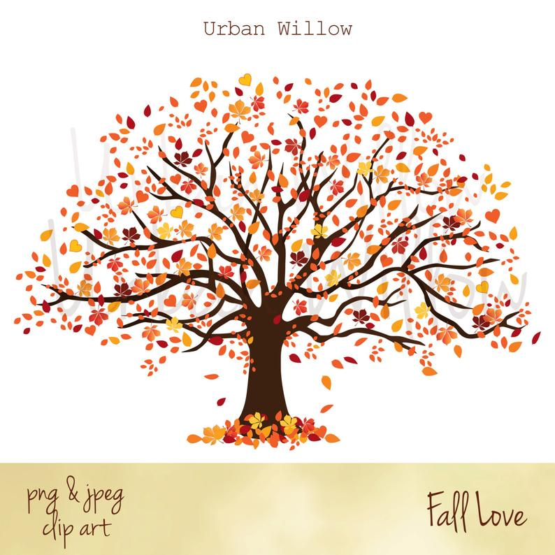 Tree autumn graphics liquid. Clipart fall family