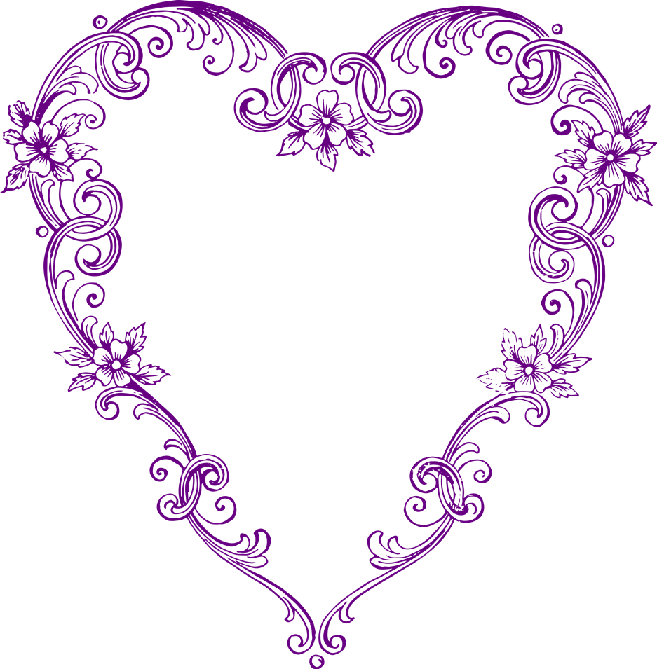 Free images fancy vintage. Purple hearts png