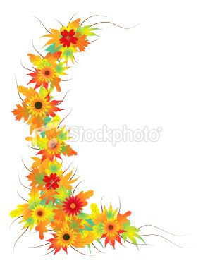 Autumn leaves and flowers. Clipart fall flower