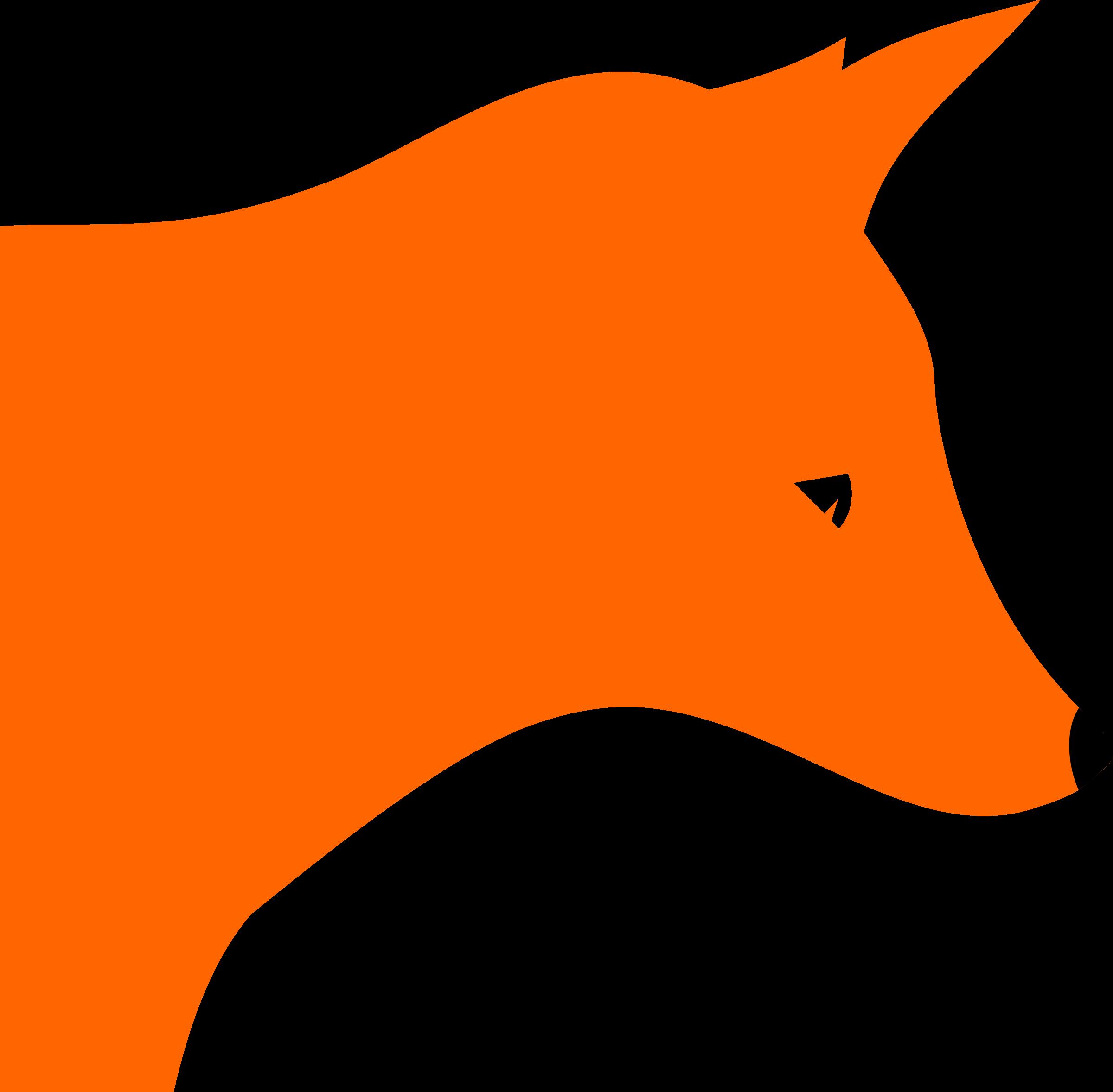 Vintage head . Clipart tiger fox