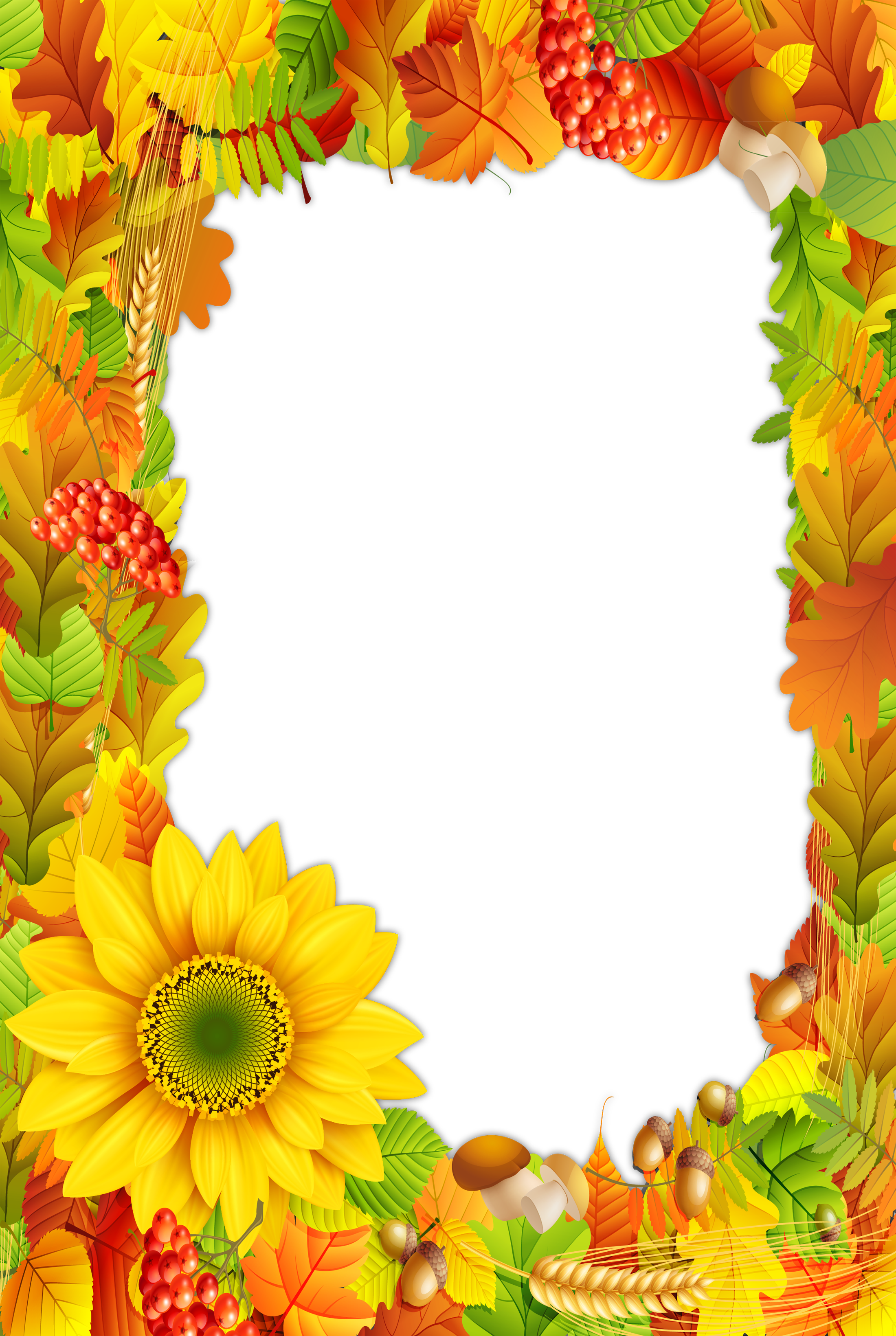 Colors photo gallery yopriceville. Fall frame png