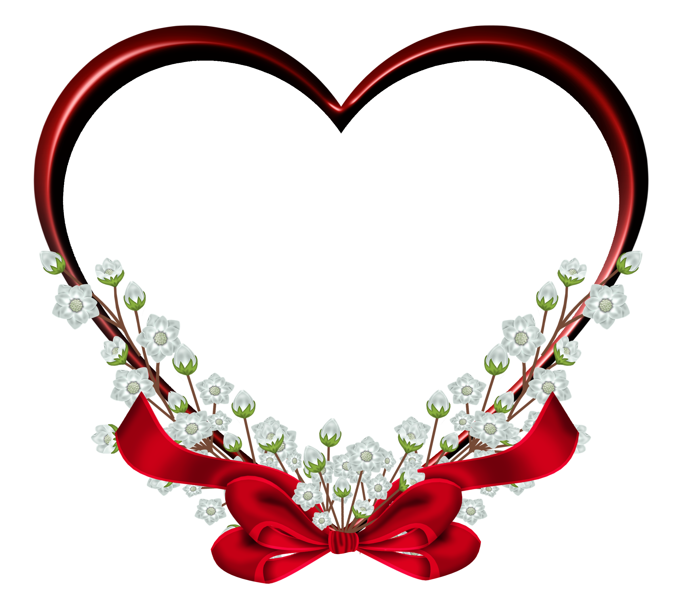 Transparent red heart frame. Clipart hearts christmas