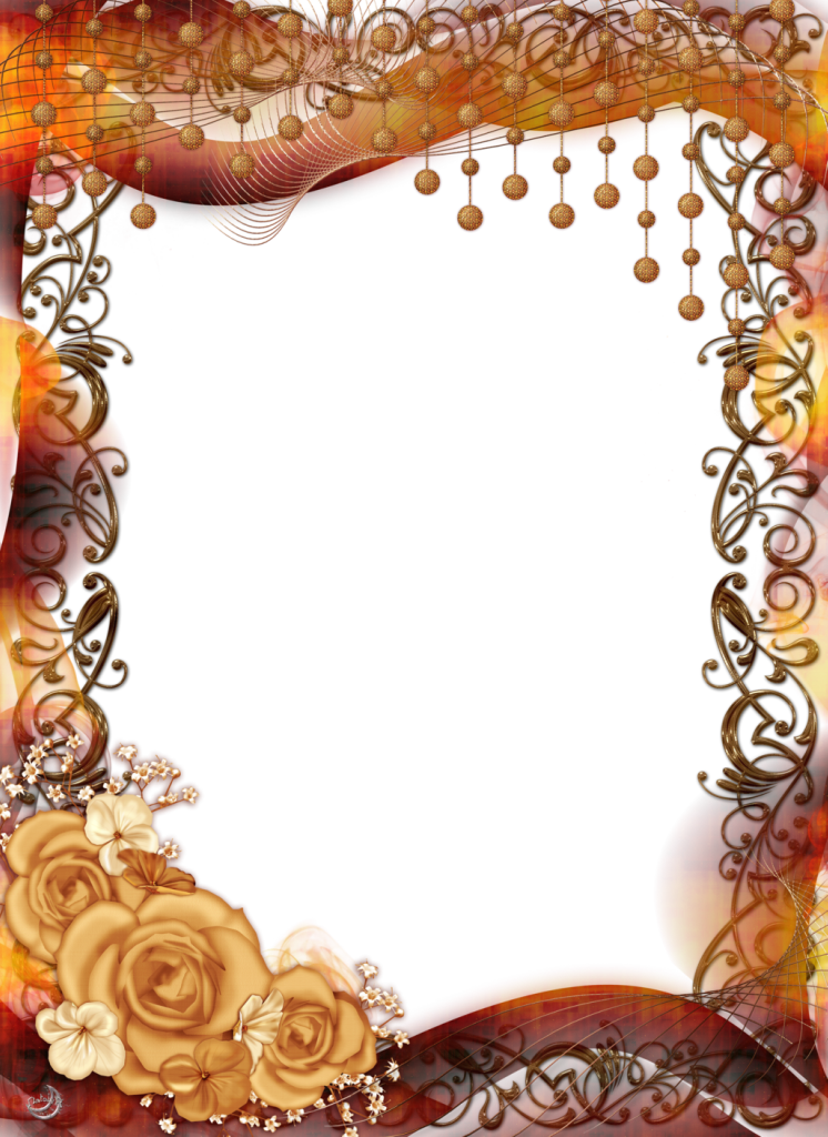 Clipart fall frame. Transparent png with yellow