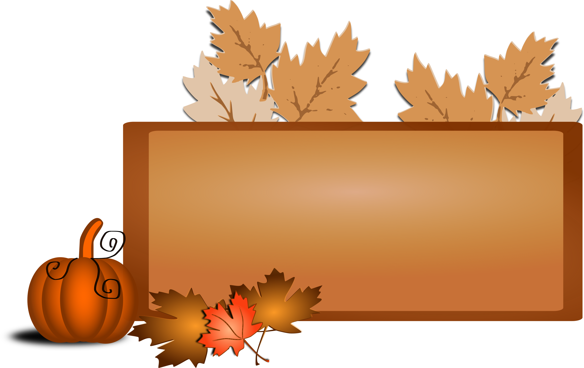 Fall clip art big. Clipart tree pumpkin